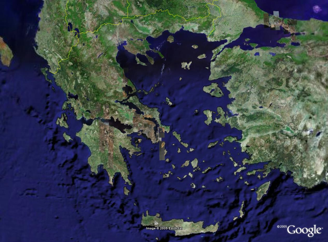HAM GR - new GE series - Satellite maps of Greece by Google